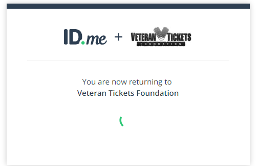 ID.me verifying your vet tix account